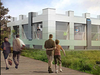 Nieuw gebouw transformatie concept