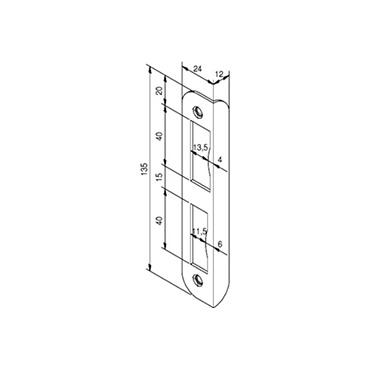 Nemef hoeksluitplaat HP1266/12 rechts