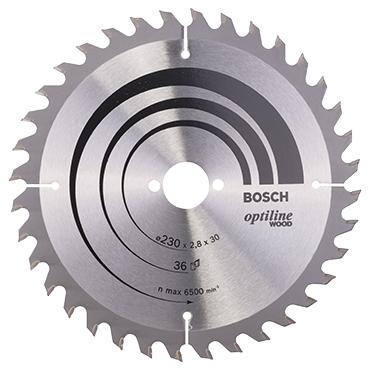 Bosch cirkelzaagblad optiline wood 36t