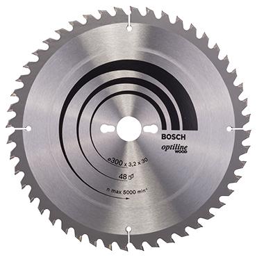 Bosch cirkelzaagblad optiline wood 48t