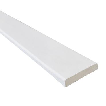 MDF koplat recht wit 12x45mm FSC