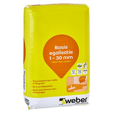 Weber.Floor project vloeregalisatie