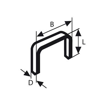 Bosch nieten fijn draad type 53