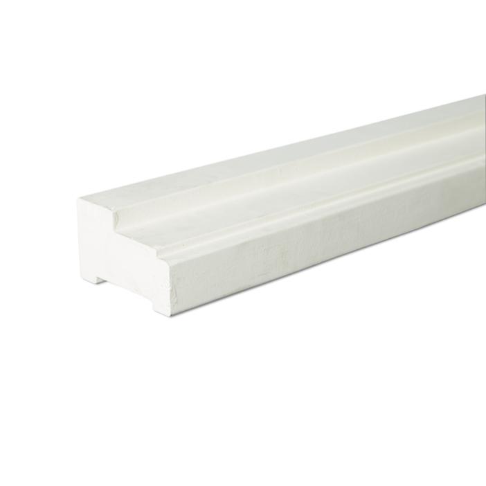 Hardhout profiel A wit gegrond 590cm FSC