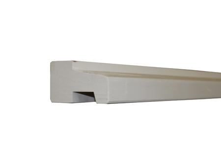 Hardhout profiel C wit gegrond 590cm FSC