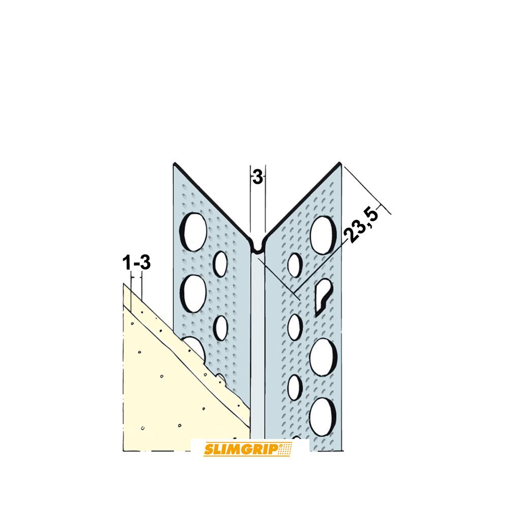 Hoekbeschermer Slimgrip 1029 1mm wit