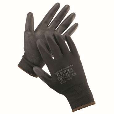 Handschoen SW7194  zwart 12 paar